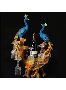 Beautiful Peacock Wine Rack and Bottle Holders