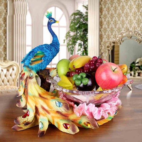 New Arrival Amazing Animal Peacock Desktop Decoration