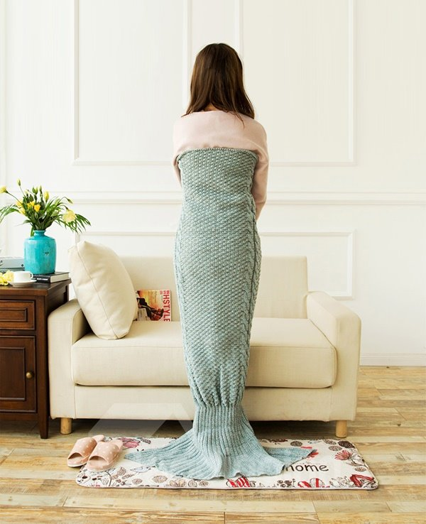 New Arrival Warm and Soft Blue Mermaid Blanket