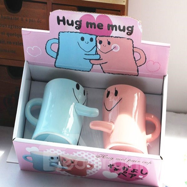 New Arrival Cute Smile Design Couple Cups and Mugs