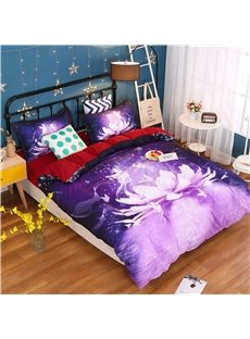 High Class Dreamy Water Lilly Print 4-Piece Duvet Cover Sets