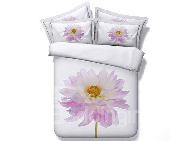 Special Design Chic Big Flower Pattern 5-Piece Comforter Sets