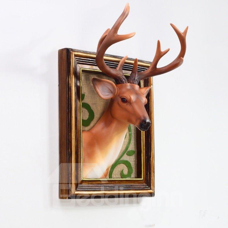 Classic European Style Deer Head Decoration Wall Art Print
