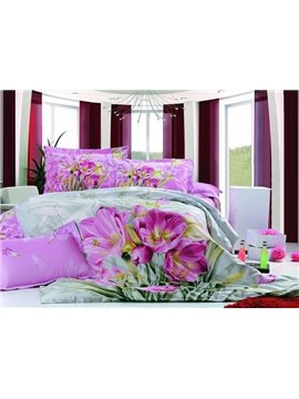 High Quality Unique Romantic Tulip Pattern 3D Bedding Sets