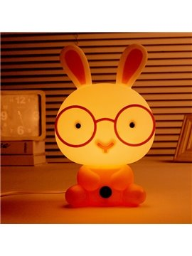 Cute Glasses Rabbit Shape LED Night Table Lamp