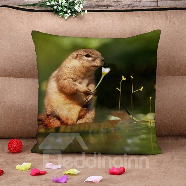 Super Cute Marmot Design 3D Throw Pillow Case