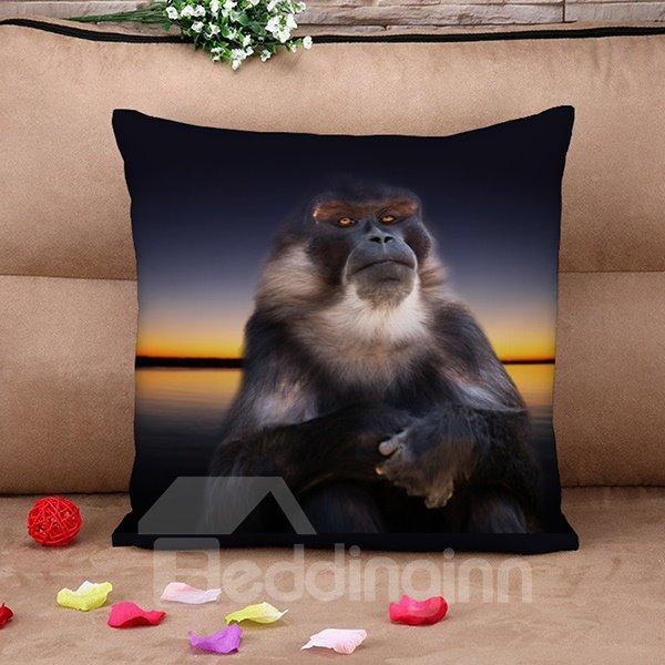 Top Class Vigorous Orangutan 3d Print Throw Pillow Case