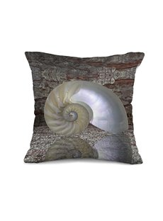 New Style Fancy Snail Shell 3D Print Throw Pillow Case