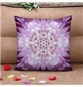 Excellent Purple Flower 3D Print Throw Pillow Case