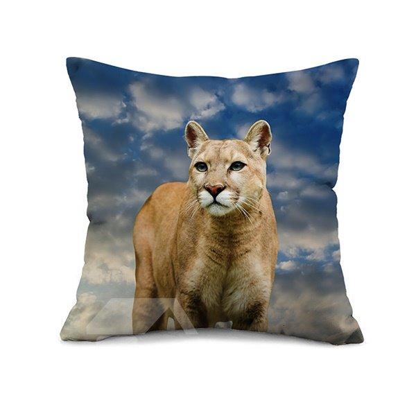 3D Beautiful Leopard Design Modal Fibre Throw Pillow Case
