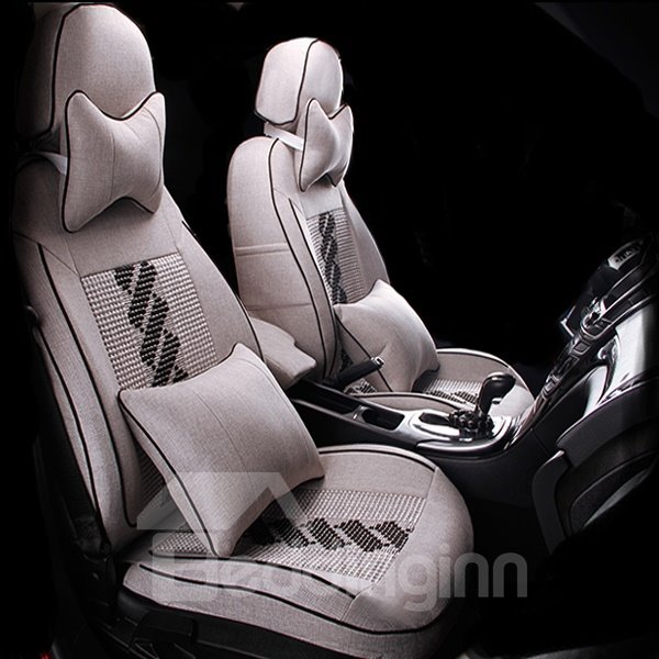 Ice Silk And Environment Flax Material Car Seat Cover
