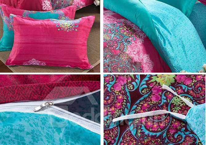 Elegance Wonderful Ethnic Design 4-Piece Cotton Duvet Cover Sets