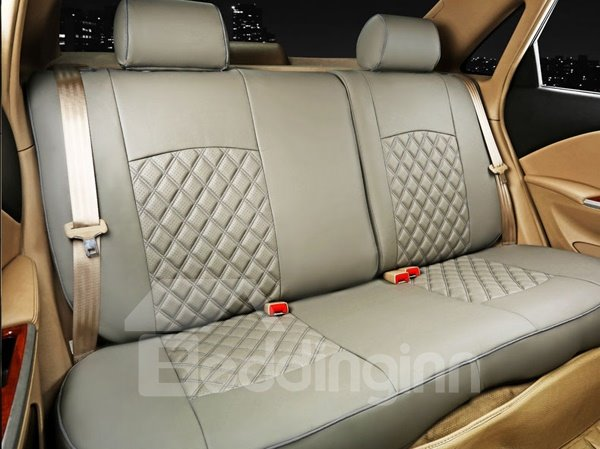 Diamond Types Soild Leather Material Car Seat Cover