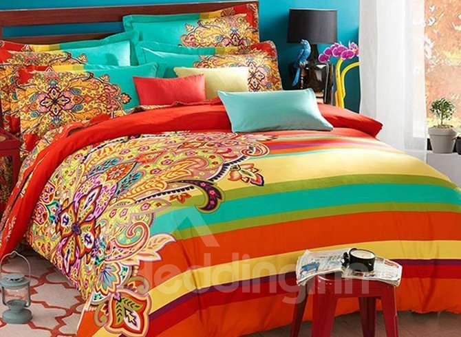 Funky Bright Colored Bedding Stop Searching For A Minute Check These