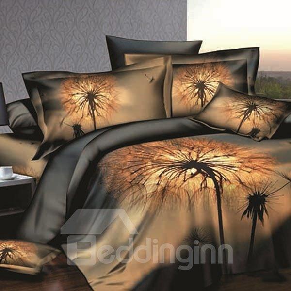 Dandelion Printing Skincare Cotton 2-Piece Pillow Cases