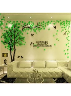 Beautiful Countryside Style Tree and Birds Wall Stickers