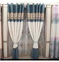 Chenille Jacquard Grommet Blackout Curtain Panel