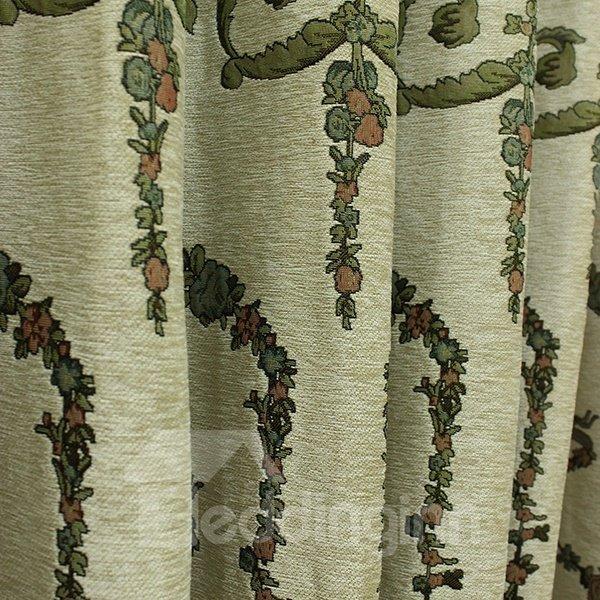 High-quality Jacquard Blue Grommet Curtain Panel