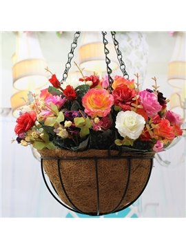 Beautiful Plastic Simulation Roses Hanging Flowers
