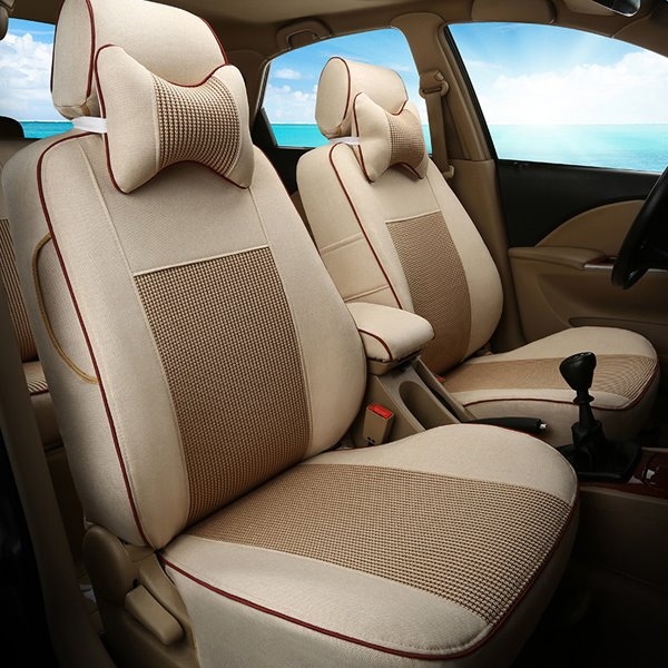 Pretty Textured And Pure Color Design Universal Attractive Car Seat Cover