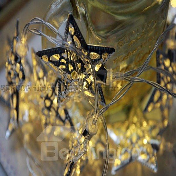 Bright Iron Star Shape 2-meter Long LED Strip Lights