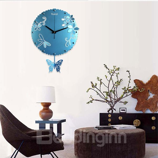 New Style Delicate Colorful Butterfly Wall Clock