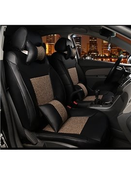 Durable Leather Material Fashional Modeling Universal Car Seat Cover