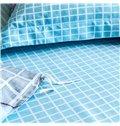 Young Fashion Style Plaid Blue 4-Piece Cotton Duvet Cover Sets