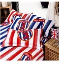 Classic British Style Lucky Star Print 4-Piece Cotton Duvet Cover Sets