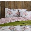 High Class Graceful Floral Pattern 4-Piece Cotton Duvet Cover Sets
