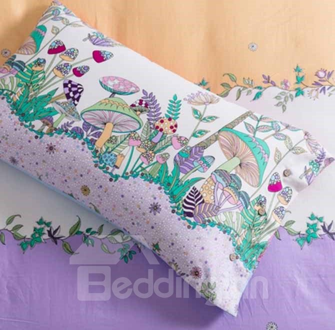 New Style Adorable Deer in Forest Print 4-Piece Cotton Duvet Cover Sets