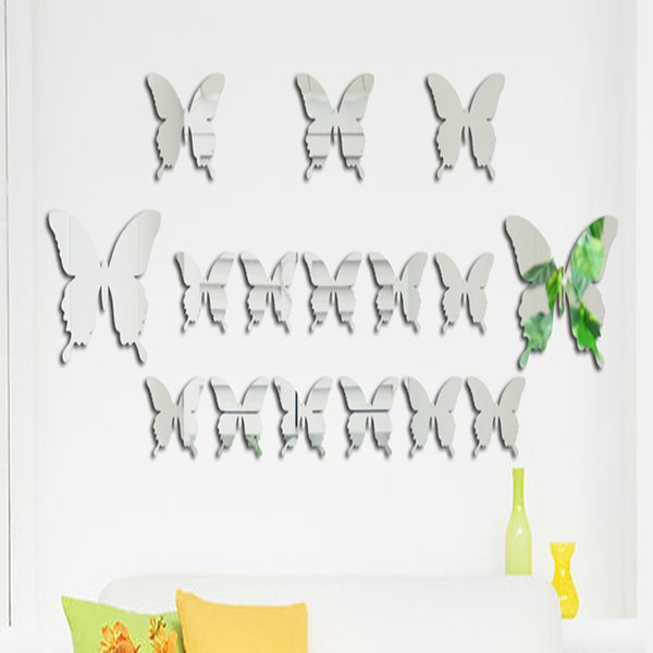Amazing Acrylic Butterfly Pattern Mirror Wall Stickers