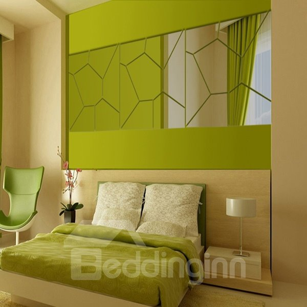 Amazing Acrylic Mirror Geometry Pattern Decoration Wall Stickers