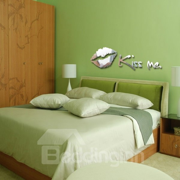 Hot Sale Modern KISS ME Decorative Wall Stickers