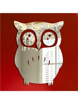 Unique Design Acrylic Owl Print Decorative Wall Stickers