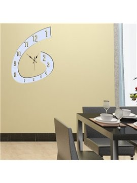 Wonderful Modern Clock Print Decorative Wall Stickers
