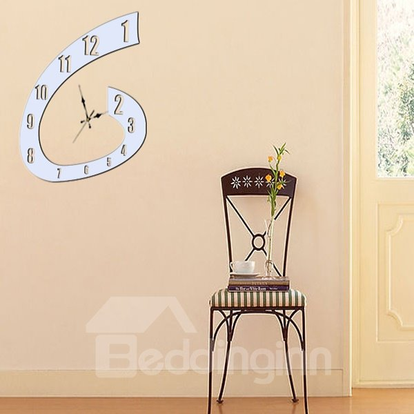 Wonderful Modern Clock Print Decorative Wall Stickers