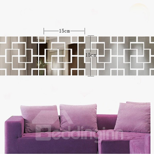 Modern Design Acrylic Mirror Decal Removable Decorative Wall Sticker