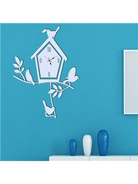 Beautiful Tree House and Birds Wall Art Stickers