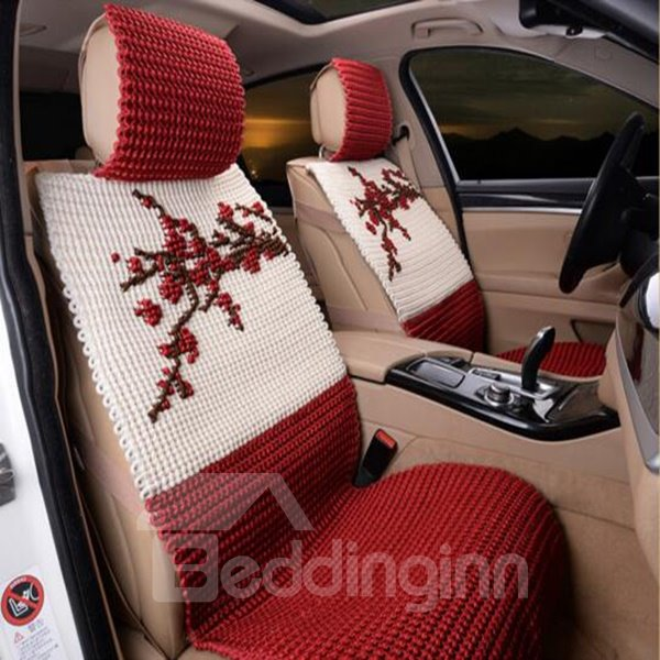microfiber material and chinese plum style car seat cover. Black Bedroom Furniture Sets. Home Design Ideas