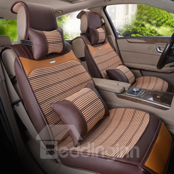 Cool Ice Silk Material And Classic Business Style Universal Car Seat Cover