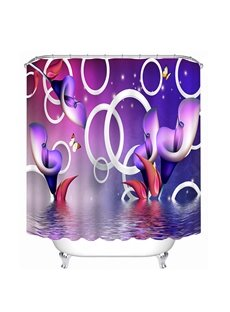 Special Design Purple Calla Lilies Print 3D Bathroom Shower Curtain