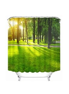 Trees in the Morning Print 3D Bathroom Shower Curtain