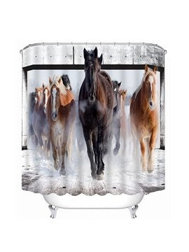 A Group Horses Running Print 3D Bathroom Shower Curtain