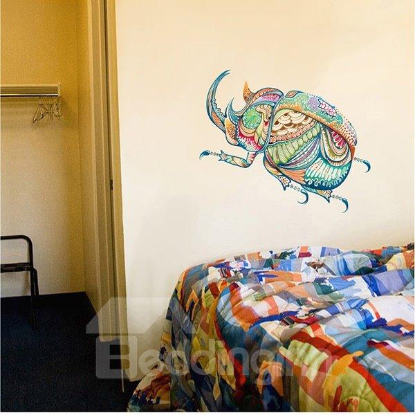 Creative Colorful Digital Bug Pattern Wall Sticker