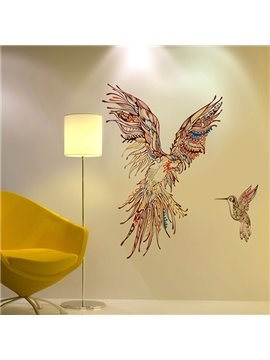 Modern Design Color Owl and Bird Pattern Wall Stickers
