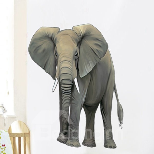 Amazing Decorative Elephant-African Pattern Wall Sticker