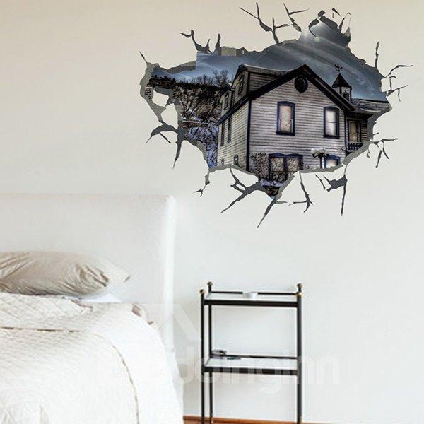 Creative Broken Hole House Pattern 3D Wall Stickers