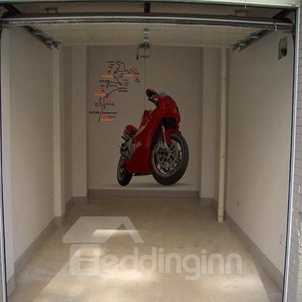 Creative Polyviny Chloride Motorcycle Pattern Wall Stickers