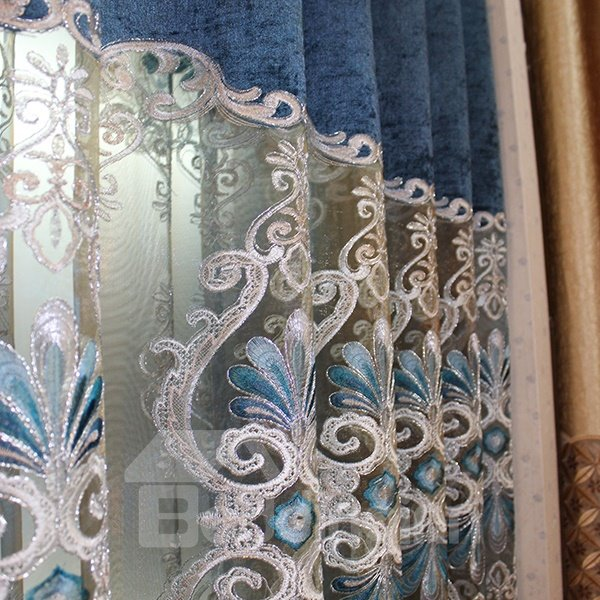 European Style Luxury Guipure Grommet Top Curtain Panel